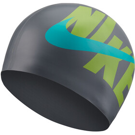 Nike Swim Logo Siliconen Badmuts, particle grey